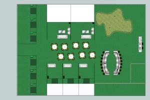 Projekt centrum symulatorów golfowych